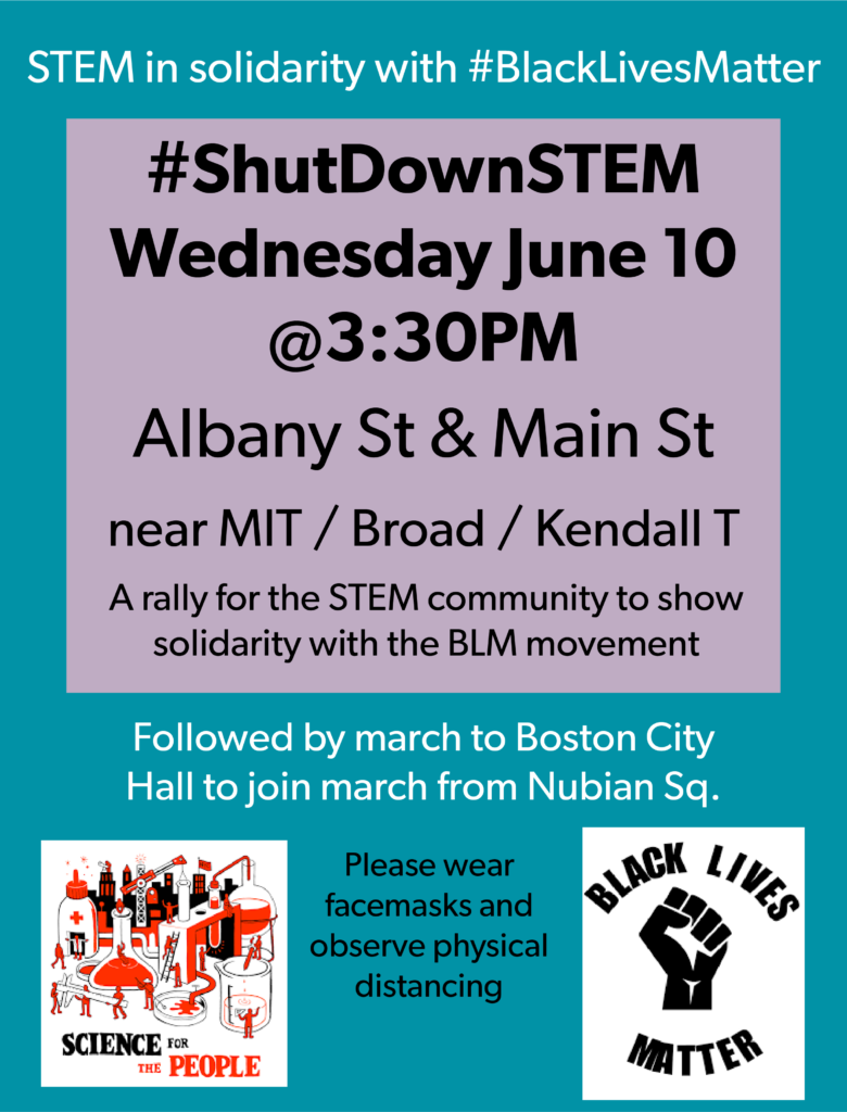 flyer for BlackLivesMatter rally